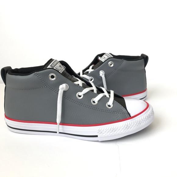 f8d648e99f3598 ⬇️Grey Red CTAS Street Converse Mid-top Sneaker